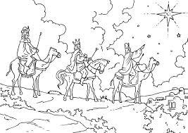 imagenes de los reyes magos y sus animales dibujo para colorear reyes magos img 26954