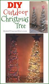 diy outdoor christmas tree make it yourself