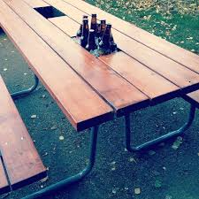 Best Wood To Make Picnic Table by Best 25 Picnic Table Umbrella Ideas On Pinterest Picnic Table