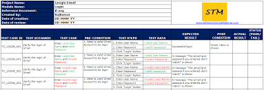 test case template with explanation software testing material