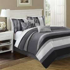 grey bedding create cool nuance plus modern pillowcase also