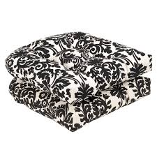 Wicker Settee Replacement Cushions by Amazon Com Pillow Perfect Indoor Outdoor Black Beige Damask