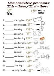 demonstrative pronouns worksheet by isabel