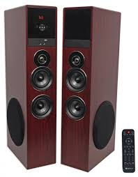powered subwoofer for home theater system rockville tm80c cherry powered home theater tower speakers 8