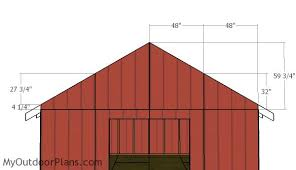 Building Plans Garage Getting The Right 12 215 16 Shed Plans by 16x16 Gable Shed Roof Plans Myoutdoorplans Free Woodworking