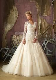 robe de mariã e manche longue dentelle robe de mariée applique dentelle manches longues robe pas cher
