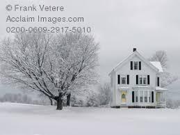 new england farmhouse photo of a new england farmhouse in winter