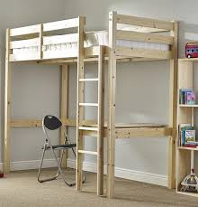 SHORT Study Bunk Bed With Mattress Cm By Cm Work Station - High bunk beds