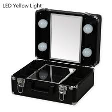 rolling makeup case with lighted mirror popular makeup vanity rolling cases cosmetic case with lighted