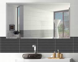 bathroom wall mirrors frameless zipcode design marylee rectangle beveled frameless wall