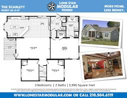 the scarlett ranch style modular home floor plan