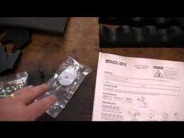 stack on 18 gun convertible gun cabinet stack on 18 gun convertible security cabinet youtube