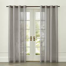 Light Grey Drapes Curtain Panels And Window Coverings Crate And Barrel