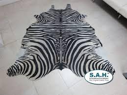 Calf Skin Rug Amazon Com Off White Zebra Cowhide Rug Brazilian Hair On Cow