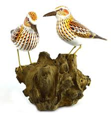 amazon com hand carved painted wood carving shorebird sandpiper