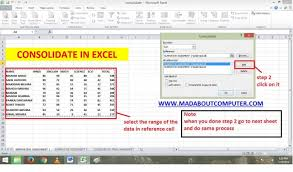 consolidate data from multiple worksheets in excel youtube merge