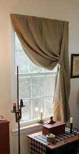 Burlap Looking Curtains Prim Love The Curtains U0026 The Tin Candle Holder On The Sill I