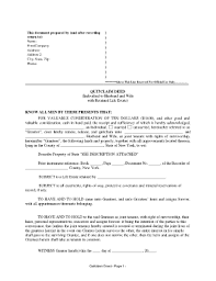 nys quit claim deed form example fill online printable