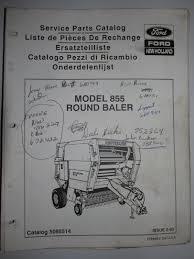 buy new holland 852 round baler parts catalog book manual 5085212