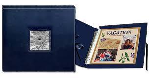 pioneer scrapbook album pioneer 12 x 12 sewn scrapbook box stitched navy blue