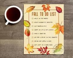 fall to do list etsy