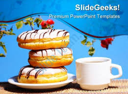 Break Fast Food Powerpoint Template 0810 Presentation Graphics Fast Food Ppt