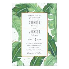 summer wedding invitations tropical summer wedding invitation zazzle