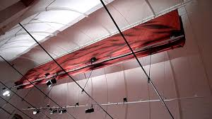 Audimute Curtains by Acoustic Curtain Installation In The Kraakhuis Of De Bijloke Gent