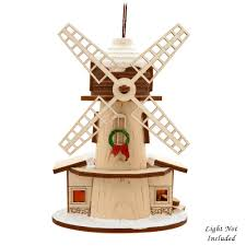 windmill wood ornament novelty nostalgia