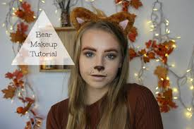 easy halloween makeup teddy bear kate hall youtube