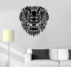compare prices on dragon kids room online shopping buy low price newhome wall vinyl decal chinese dragon mask myth kids room oriental wall stickers free shipping
