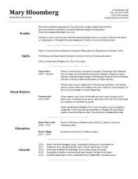 Resume For Movie Theater Job by 30 Basic Resume Templates