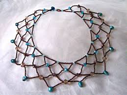make necklace with beads images Beaded lace necklace tutorial jpg