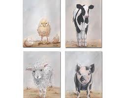 farm animal prints etsy