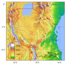 Africa Topographic Map by Maps Of Tanzania Map Library Maps Of The World