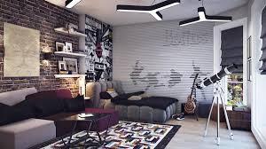 bedroom minimalist interior design with grey velvet tufted sofa