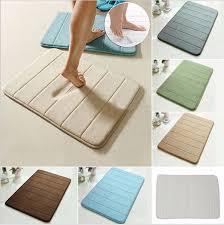 Memory Foam Rugs For Bathroom by 40x60cm Coral Velvet Memory Foam Slow Rising Rug Bathroom Mat Soft