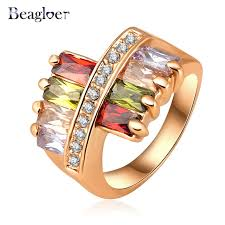 aliexpress buy beagloer new arrival ring gold beagloer big sale new rings gold color austrian ring