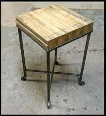 Wood Block Side Table Boxcar Wood Side Table U2013 Block Furniture U2013 Made In Colorado