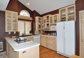 classic distressed white cabinets kitchen set with iron ceiling