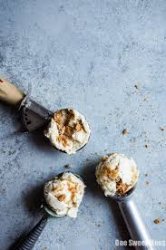 no churn peach cobbler ice cream one sweet mess