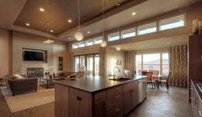 beautiful country style open plan kitchen lighting ideas