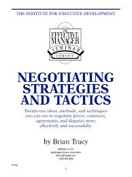 brian tracy negotiating strategies pdf negotiation empathy