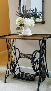 sewing machine table ideas stunning antique sewing machine makeover diy home decor for table