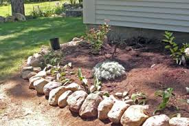flower beds with rock borders interior design