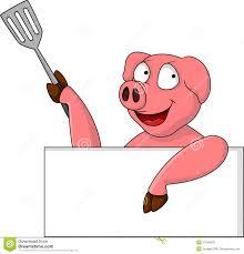 funny pig cartoon blank sign stock illustration image 27048259
