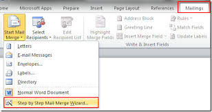mail merge from excel word 2010 mail merge