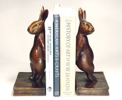 bunny bookends gerber rabbit bookends sculpture