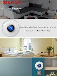 home theater wall plate 7 27in wall plate bracket cover for nest thermostat e nest