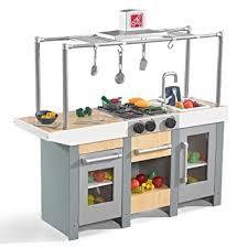 Kidkraft Urban Espresso Kitchen - amazon com step2 uptown urban wood kitchen u0026 island play toys